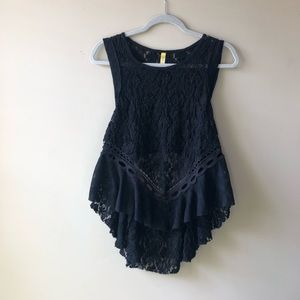 NWOT Free people open-back lace top